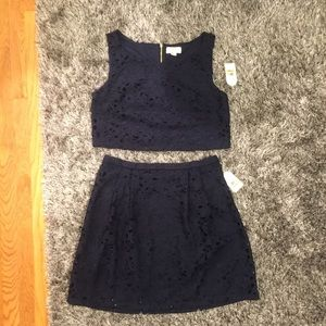 NWT Adorable Jessica Simpson Crop Top & Skirt Set
